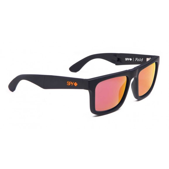 SPY Fold Sunglasses - Matte Black/Bronze/Red