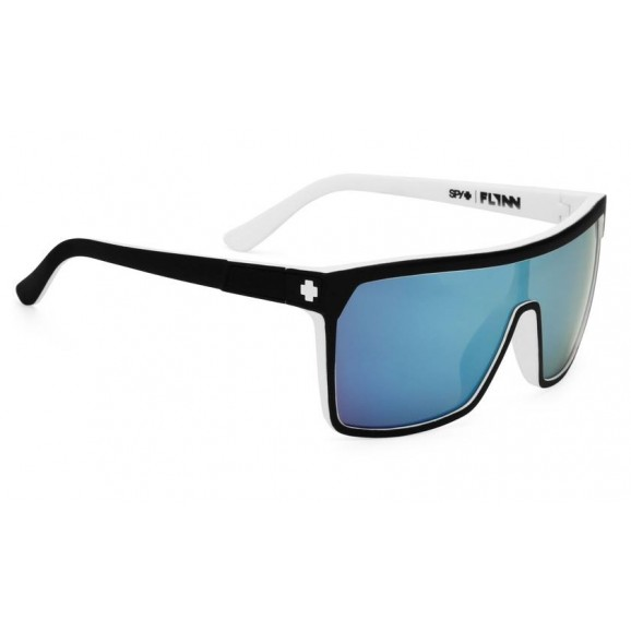SPY Flynn Sunglasses - Whitewall/Happy Gray Green/Light Blue Spectra