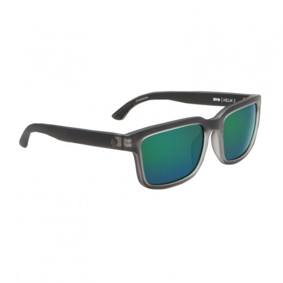 SPY Helm 2 Sunglasses - Matte Black Ice/Happy Bronze/Emerald Spectra