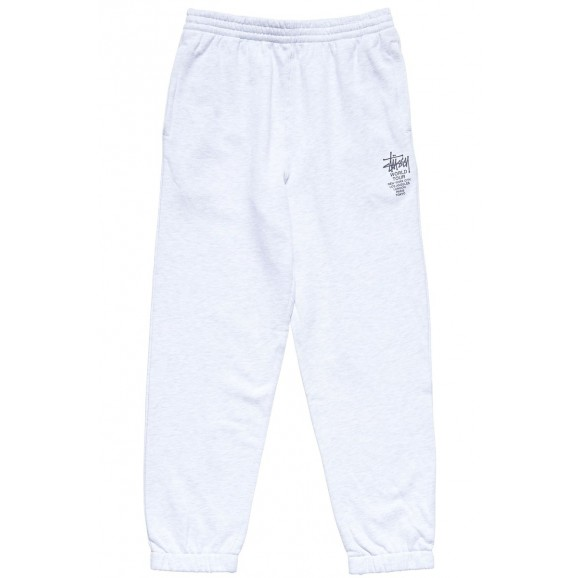 STUSSY World Tour Mens Trackpant - Snow Marle