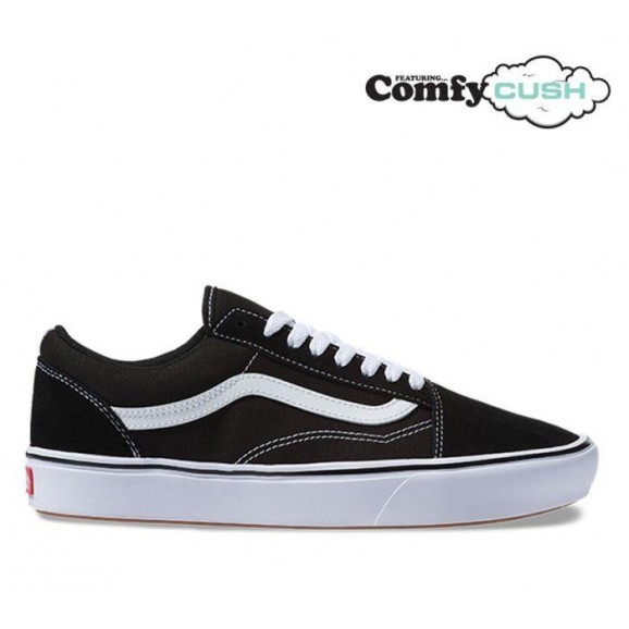 VANS Old Skool Comfycush Shoe - True Black/White