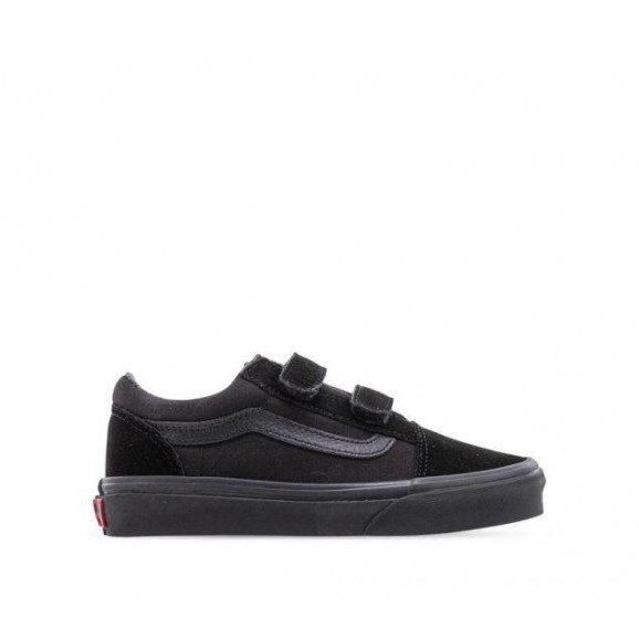 VANS Old Skool V Youth Shoe - Black/Black