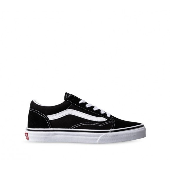 VANS Old Skool Youth Shoe - Black/True White